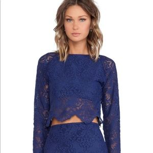 NWT For Love & Lemons Midnight Lace Top